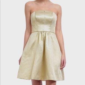 Weddington Way Gold Strapless Dress Size 2
